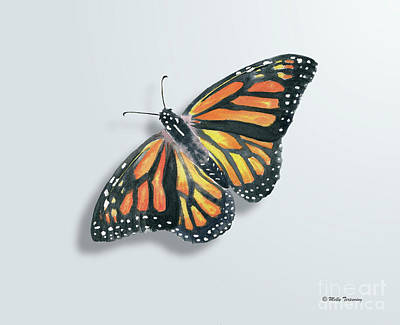 Painting - Monarch Butterfly by Melly Terpening