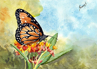 Monarch Painting - Monarch Butterfly by Sam Sidders