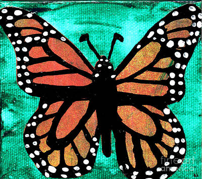 Painting - Monarch Cutout by Genevieve Esson