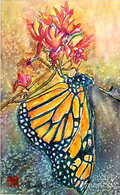 Monarch In The Morning Art Print by Norma Boeckler
