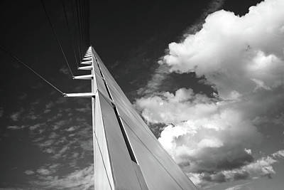 Photograph - Monarch In The Sky B And W by Joyce Dickens