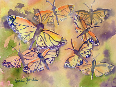 Painting - Monarch Journey by Liana Yarckin
