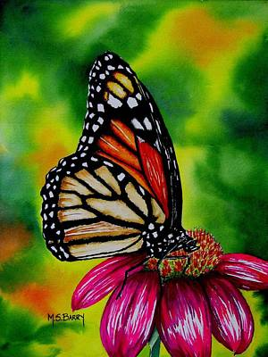 Monarch Butterfly Painting - Monarch by Maria Barry