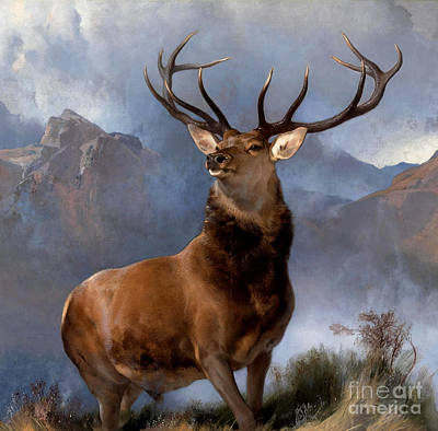 Painting - Monarch Of The Glen by Pg Reproductions