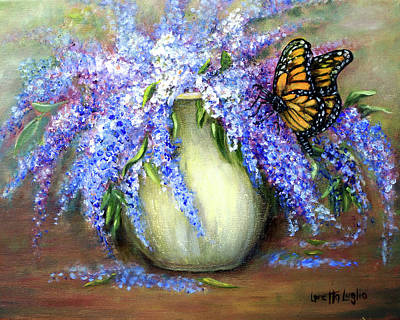 Painting - Monarch Of The Lilacs by Loretta Luglio