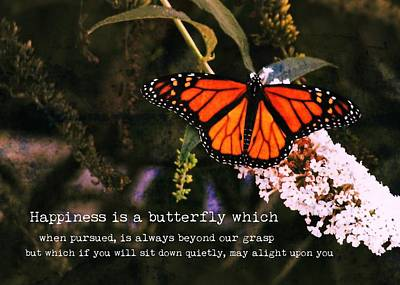Photograph - Monarch Quote by JAMART Photography