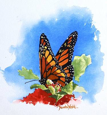 Orange And Black Butterfly Painting - Monarch by Renata Wright