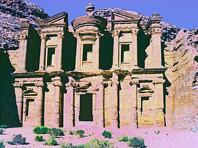 Petra Mixed Media - Monastery At Petra by Dominic Piperata