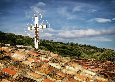 Photograph - Monastery Cross  by Shirley Mitchell