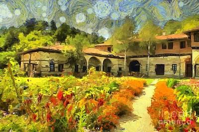 Digital Art - Monastery Garden by Eva Lechner