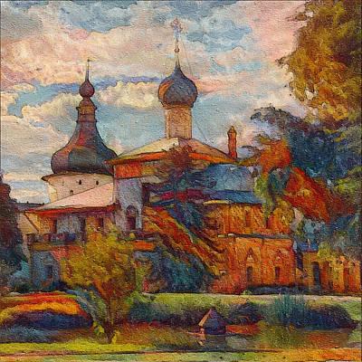 Digital Art - Monastery In Moscow by Yury Malkov