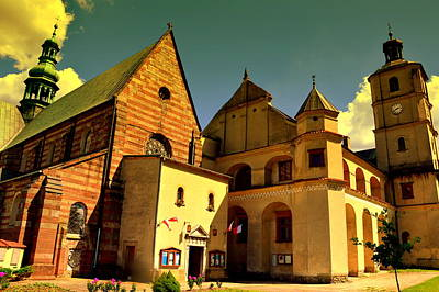 Monastery In The Wachock/poland Art Print