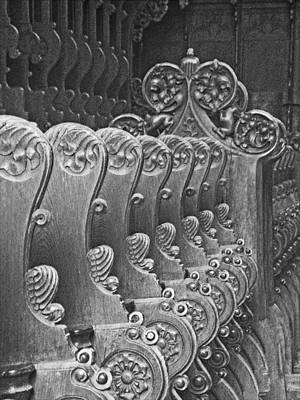 Photograph - Monastery Pews by Jean Hall