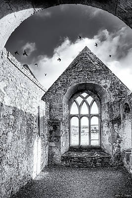 Photograph - Monastic Ruins Of Ireland - Ross Errilly Friary by Mark Tisdale