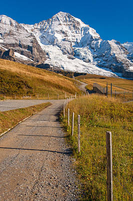 Photograph - Monch In The Jungfrau Region Of The Bernese Alps by Brenda Jacobs