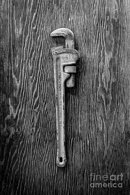 Photograph - Moncky Wrench Bw by YoPedro