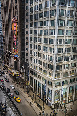 Photograph - Monday Afternoon On State Street In Chicago Illinois. Elevated View State And Randolph. by Linda Matlow