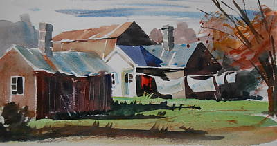 Barn Poster Painting - Monday Morning by Len Stomski