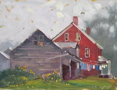Painting - Monday On The Farm by Len Stomski