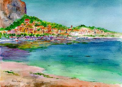 Painting - Mondello Sicilia by Kathleen  Gwinnett