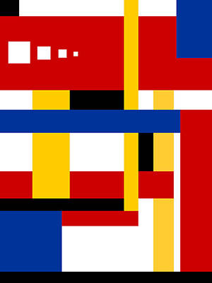Piet Painting - Mondrian Composition 10 by Celestial Images