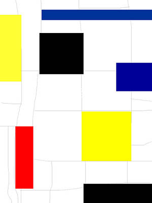 Piet Painting - Mondrian Composition 11 by Celestial Images
