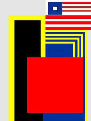 Piet Painting - Mondrian Composition 12 by Celestial Images