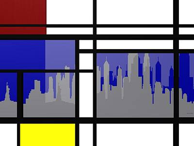 Room Digital Art - Mondrian In N Y by Alberto  RuiZ