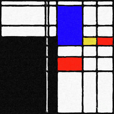 Digital Art - Mondrian Inspired Digital Painting 02 by Antony McAulay