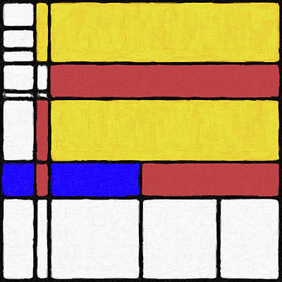 Digital Art - Mondrian Inspired Digital Painting 03 by Antony McAulay