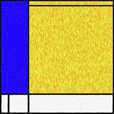 Digital Art - Mondrian Inspired Digital Painting 04 by Antony McAulay