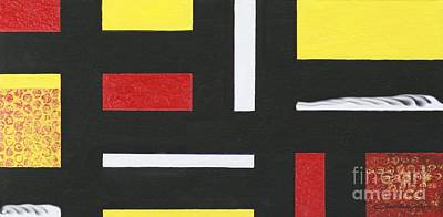 Painting - Mondrian-ish by Jean Clarke