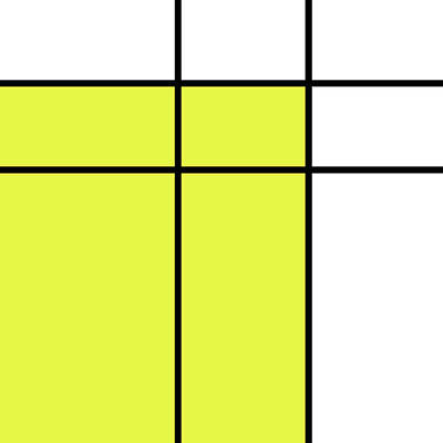 Royalty-Free and Rights-Managed Images - Mondrian Style Minimalist Pattern in Yellow by Studio Grafiikka