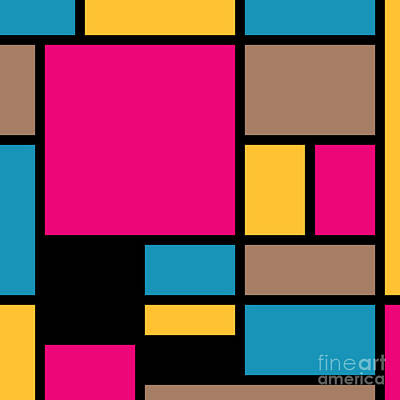 Beastie Boys - Mondrian style modern cool colors 1 by Aapshop
