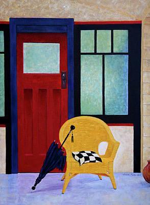 Painting - Mondrian's Chair by Nareeta Martin