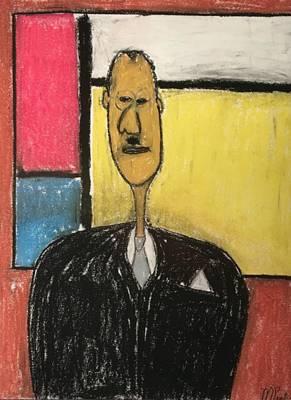 Pastel - Mondrian's Moustache by Mario Perron