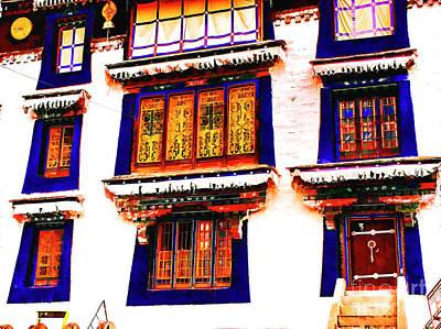 Photograph - Monestary Exterior Tibet by Rick Bragan