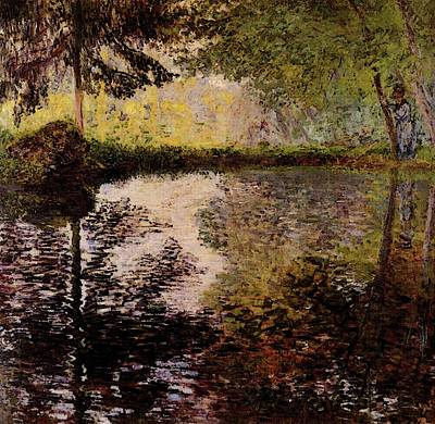 Monet Claude Pond At Montgeron Art Print by Claude Monet
