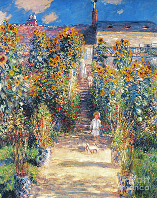 Vetheuil Photograph - Monet: Garden/vetheuil by Granger