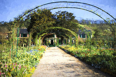 Photograph - Monet House And Spring Garden In Giverny by David Smith
