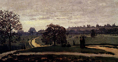 Hyde Park Digital Art - Monet Hyde Park London  by Claude Monet