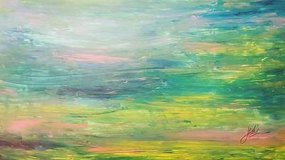 Wall Art - Painting - Monet I'm Calm  by Keri Fuller