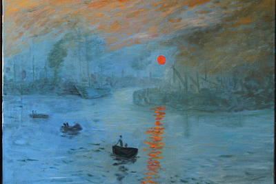 Monet Sunrise By Dg Art Print