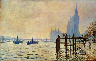 Photograph - Monet: Thames, 1871 by Granger