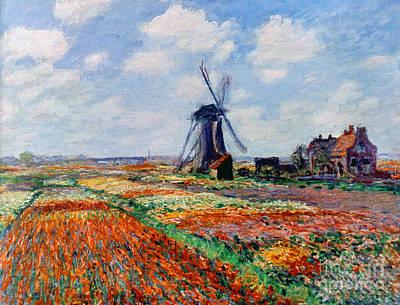 Impressionist Photograph - Monet: Tulip Fields, 1886 by Granger