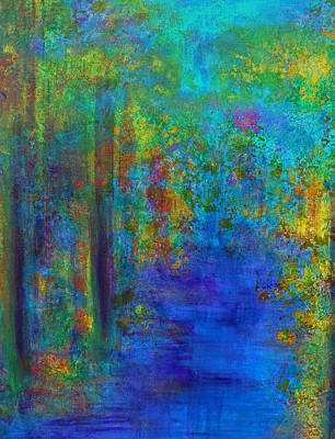 Print featuring the painting Monet Woods by Claire Bull