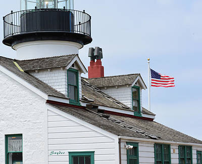 Photograph - Monetrey Lighthouse Flag by Floyd Snyder