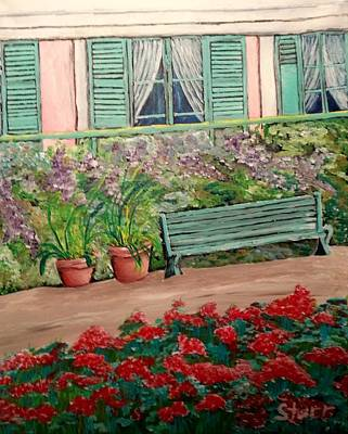 Most Popular Painting - Monet's Bench by Irving Starr