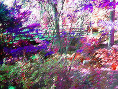 Photograph - Monets Bridge At Garvan Gardens by Anne Cameron Cutri