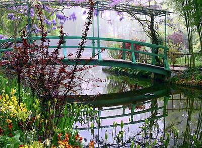 Monet's Bridge Art Print by Jim Hill